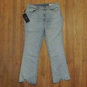 Rag Bone Clean Lynn Jeans Light Blue Rough NEW